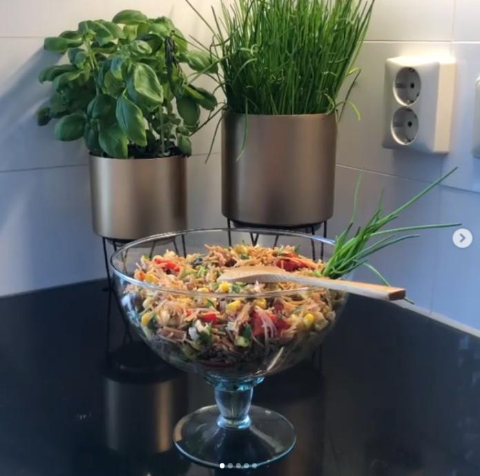 tavuklu kavrulmuş tel şehriye salatası tarifi