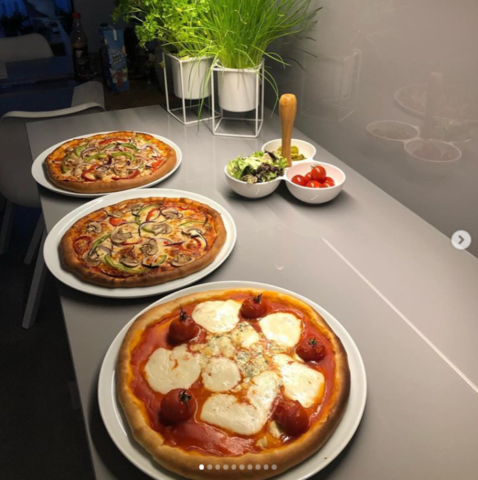 tavukulu, mozarellalı pizza tarifi